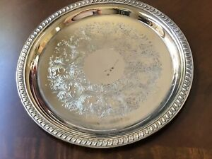Silver Plated 10 Round Serving Tray Platter