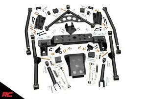 Rough Country X Flex Long Arm Upgrade For 4 Lifts Jeep 99 04 Grand Cherokee Wj