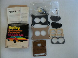 Nos Holley Mopar Six Pack Carburetor Kit Cuda Challenger Charger Superbee