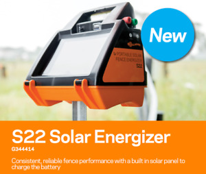 Gallagher S22 Solar Electric Fence Charger Energizer 40 Acres 12 Miles G344414