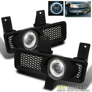 97 98 F150 F250 Expedition Halo Angel Eyes Projector Fog Lights W Switch relay