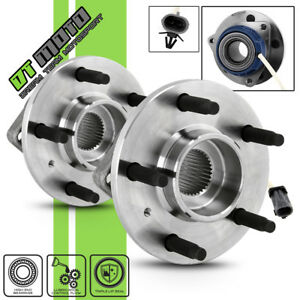 Pair 2 513179 Front Wheel Hubs Bearing Buick Chevy Pontiac Cadillac Fwd W Abs