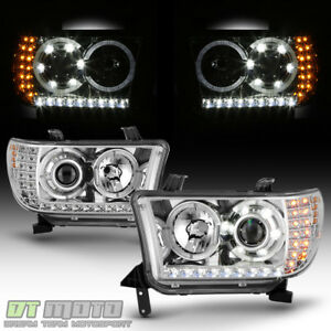 For 2007 2013 Toyota Tundra 08 17 Sequoia Led Signal Drl Projector Headlights