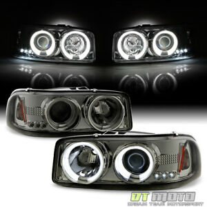 Smoke 1999 2006 Gmc Sierra Yukon Denali Led Ccfl Projector Headlights Left right