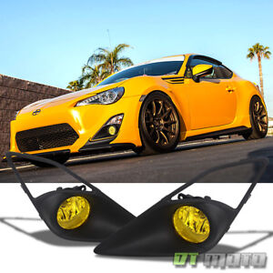 2012 2016 Scion Frs Fr S Ft86 Jdm Yellow Bumper Fog Lights 12 16 Left Right