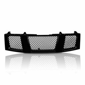 1pc For 04 07 Nissan Titan Armada Front Hood Glossy Blk Abs Plastic Grille