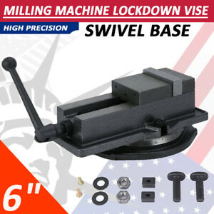6 Lock Type Milling Machine Vise Drilling Bench Clamping Vice With 360 base Us