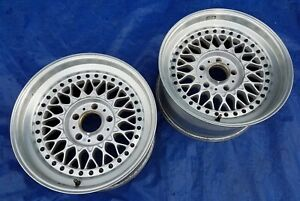 Bmw E24 M5 E28 M6 Oem Bbs Rs007 Trx Metric 415mm Et15 3 Piece Alloy Wheels 2