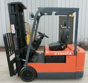 Toyota 5fbe20 2001 4000 Lbs Capacity Great 3 Wheel Electric Forklift