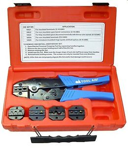 Tool Aid Ratcheting Terminal Crimper Kit With 5 Dies 18920