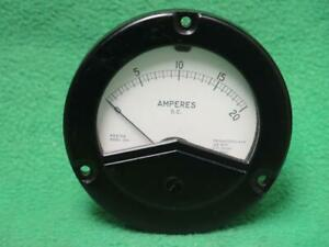 Weston 260628 2531 Mv Amp 0 20 Amperes D c Ammeter Instrument Panel Meter Gauge