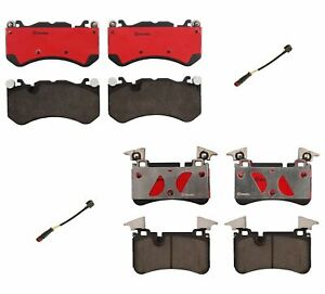 Front And Rear Brembo Brake Pad Set Kit For Benz W204 C63 Amg 08 12 P30 P61 U70