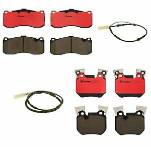 Front Rear Brembo Brake Pads With Sensors Kit For Bmw E82 E88 From March 2010