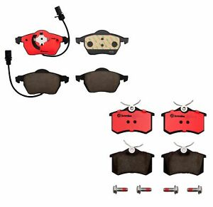 Front Rear Brembo Ceramic Brake Pads Set Kit For Audi A4 A6 Quattro Cabriolet