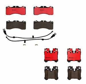 Front And Rear Brembo Brake Pads Set Kit For Lexus Ls460 F Sport 2010 17