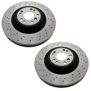 Pair Set Of 2 Front Fremax Disc Brake Rotors For Mercedes W166 W Sport Pkg P31