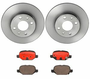 Brembo Rear Brake Kit Ceramic Pads And Disc Rotors 240x11 For Fiat 500 2012 2018