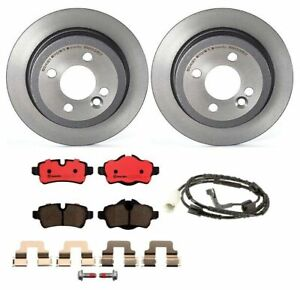 Brembo Rear Brake Kit Ceramic Pad Sensor Disc Rotors For Mini Cooper R55 R56 R57