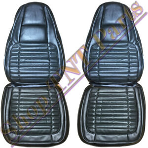 1970 Dodge Charger Front Bucket Seat Covers Black Vinyl W Basketweave Inserts