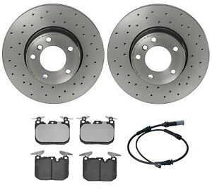 New Brembo Xtra Front Brake Kit Low Met Pads Drilled Disc Rotors For Bmw F30 F32