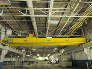Shaw Box 2012 20 Ton 40 000 Lbs 45 Top Running Double Girder Bridge Crane Hoist