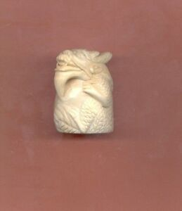 Sitting Dragon Netsuke Hand Carved Figurine Estate Item 701 B