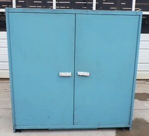 Metal Storage Cabinet 60 X 28 X 60 2 Door 3 Shelf