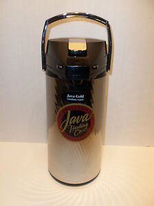 Java Trading Co Commercial Airpot Vacuum Glass Coffee Tea Beverage Dispenser 2 2