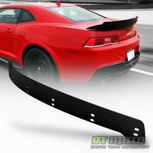 2014 2015 Chevy Camaro Wicker Bill Style Rear Trunk Add On Metal Spoiler Black