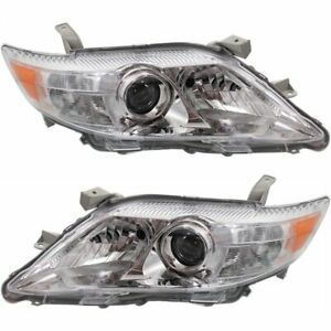 Halogen Headlight Set For 2010 2011 Toyota Camry Xle Left Right Pair