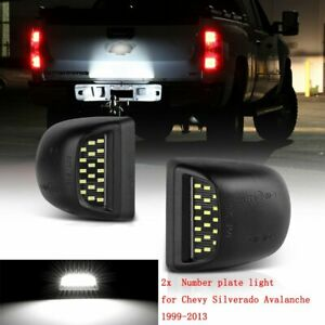 2x License Plate Light Lamp Led Smd Bulb For Chevy Silverado Avalanche 1999 2013