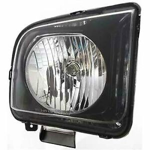 Headlight For 2007 2008 2009 Ford Mustang Right Clear Lens Halogen