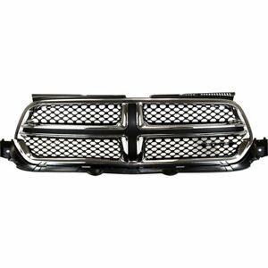 Grille Assembly For 2011 2013 Dodge Durango Black With Chrome Molding Capa