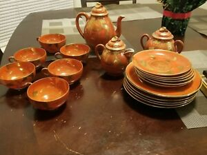 Complete Antique Japanese Dessert Cup Set