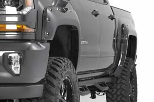 Rough Country Fender Flares Flat Black fit 2016 2018 Chevy Silverado 1500