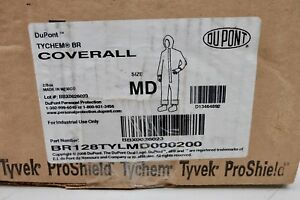 X2 Dupont Tychem Br Br128tylmd000200 Coverall Size Md Protective Suit Yellow