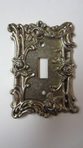 American Tack Hdwe Embossed Rose Single Toggle Light Switch Plate Cover