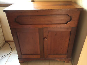 Antique Lift Top Dry Sink Wash Basin Chest