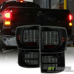 For Black Smoked 2007 2013 Toyota Tundra Full Led Tail Lights 07 13 Left Right