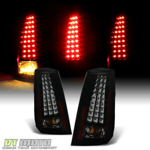 Black Smoked 2003 2004 2005 2006 2007 Cadillac Cts V Led Tail Lights Brake Lamps