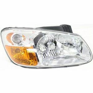 Headlight For 2007 2009 Kia Spectra 2 0l Right Clear Lens Halogen With Bulb