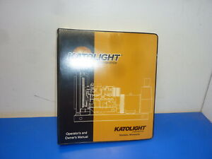 Katolight Model Nf25f n4 sp Series Generator owners Operating Manual new