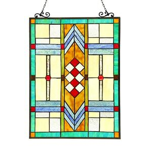 Stained Glass Tiffany Style Window Panel Mission Special Only This One 100
