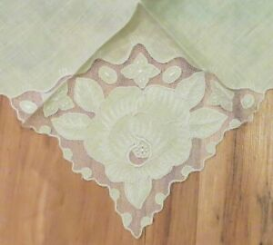 Antique Fanciest Lacy Wedding Hanky Hankerchief