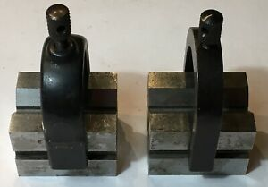 Starrett No 278 Set Of Matched V blocks As Pictured Used W Clamps As Pictured