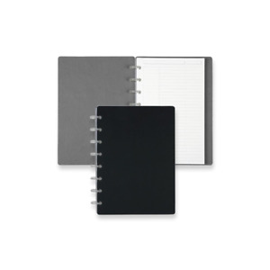 Levenger Circa Reversible Sliver Notebook Slim And Lightweight Junior black gry