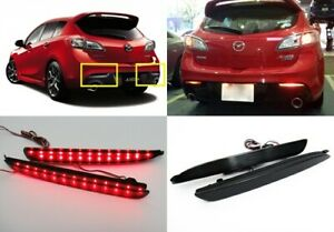 Mazda3 2010 Black Smoked Lens Led Bumper Reflector Tail Brake Light Mazdaspeed3