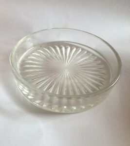 Round Clear Star Design Glass Liner Insert For Butter Dish Preserve Pot