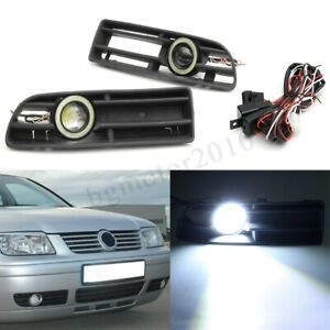 2pcs Fog Light Front Bumper Grill Angel Eyes Halo Ring Light For Vw Bora 98 2004