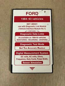 Ford Rotunda Special Tools 007 00501 Ngs Tester Red Card 1984 1993 Vehicles